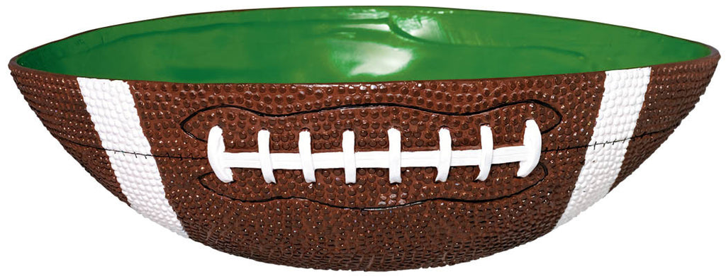 Football Shaped Large Plastic Bowl - FOOTBALL - Party Supplies - America Likes To Party