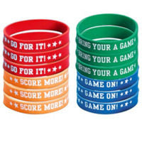 Football Rubber Bracelets 12ct - FOOTBALL - Party Supplies - America Likes To Party