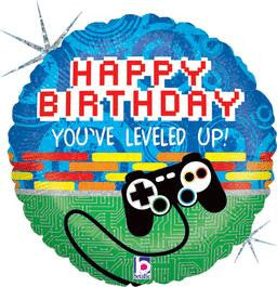 Game Controller Birthday Balloon - KIDS BDAY MYLARS - Party Supplies - America Likes To Party