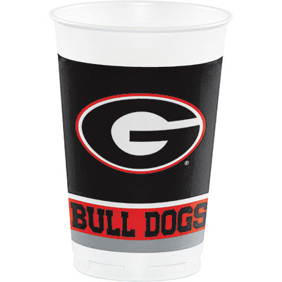 Georgia 20oz Cups 8ct - COLLEGE SPORTS - Party Supplies - America Likes To Party