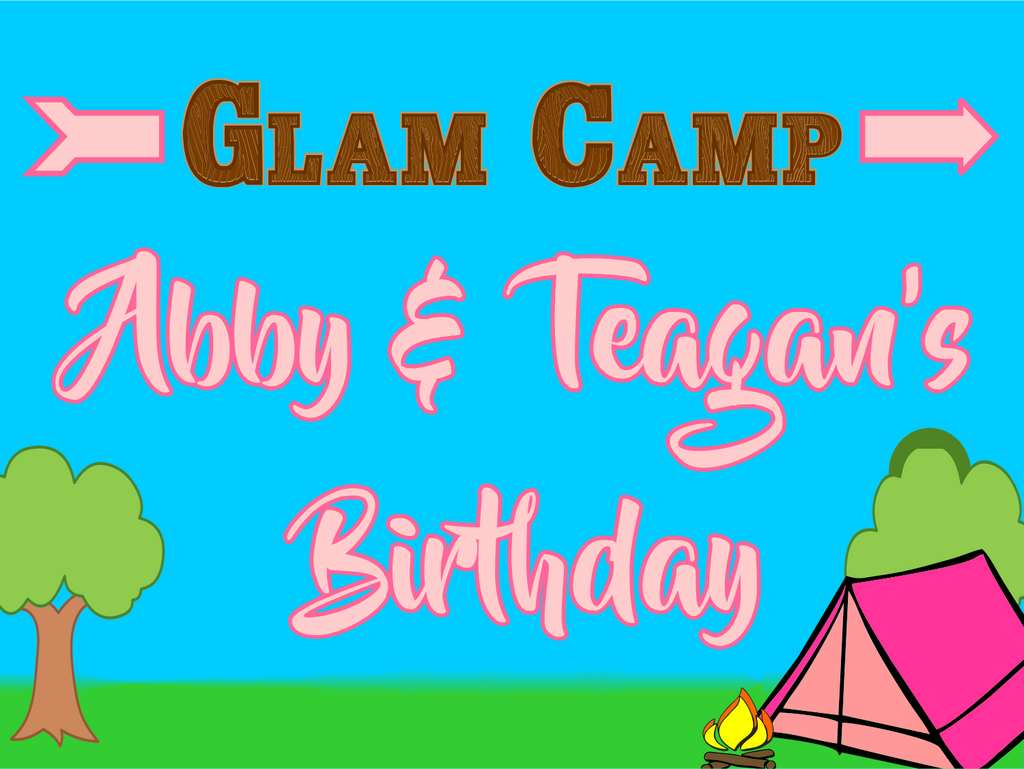 "Glamping Custom 18"" X 24"" Lawn Sign"