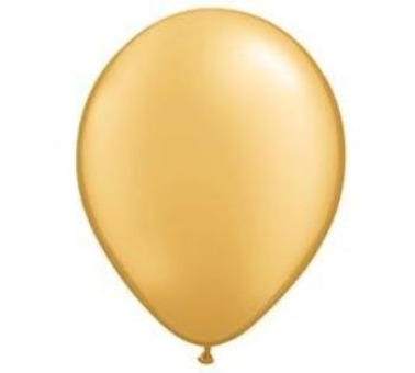 Inflated Pearl Gold Latex Balloon