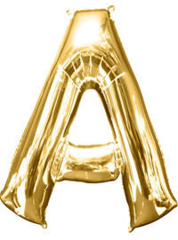 Giant Gold Letter A Balloon - MEGALOON NUMBERS/LETTERS - Party Supplies - America Likes To Party