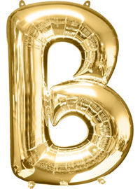 Giant Gold Letter B Balloon - MEGALOON NUMBERS/LETTERS - Party Supplies - America Likes To Party