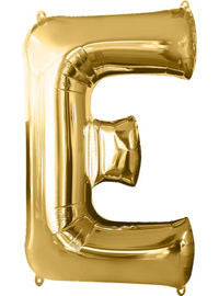 Giant Gold Letter E Balloon - MEGALOON NUMBERS/LETTERS - Party Supplies - America Likes To Party