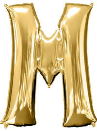 Giant Gold Letter M Balloon - MEGALOON NUMBERS/LETTERS - Party Supplies - America Likes To Party