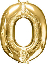 Giant Gold Letter O Balloon - MEGALOON NUMBERS/LETTERS - Party Supplies - America Likes To Party