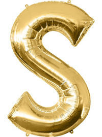 Giant Gold Letter S Balloon - MEGALOON NUMBERS/LETTERS - Party Supplies - America Likes To Party