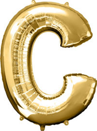 Giant Gold Letter C Balloon - MEGALOON NUMBERS/LETTERS - Party Supplies - America Likes To Party