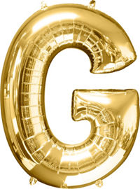 Giant Gold Letter G Balloon - MEGALOON NUMBERS/LETTERS - Party Supplies - America Likes To Party