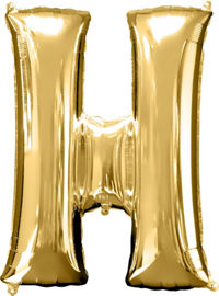 Giant Gold Letter H Balloon - MEGALOON NUMBERS/LETTERS - Party Supplies - America Likes To Party