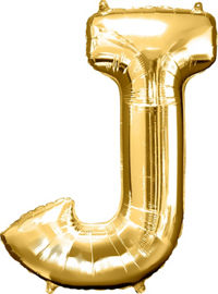 Giant Gold Letter J Balloon - MEGALOON NUMBERS/LETTERS - Party Supplies - America Likes To Party