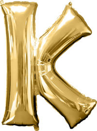 Giant Gold Letter K Balloon - MEGALOON NUMBERS/LETTERS - Party Supplies - America Likes To Party