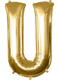 Giant Gold Letter U Balloon - MEGALOON NUMBERS/LETTERS - Party Supplies - America Likes To Party