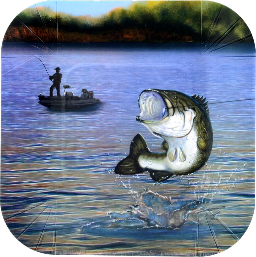 Gone Fishin' Dessert Plate 8ct - MOSSY OAK - Party Supplies - America Likes To Party