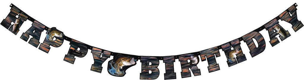 Gone Fishin' Birthday Banner - MOSSY OAK - Party Supplies - America Likes To Party