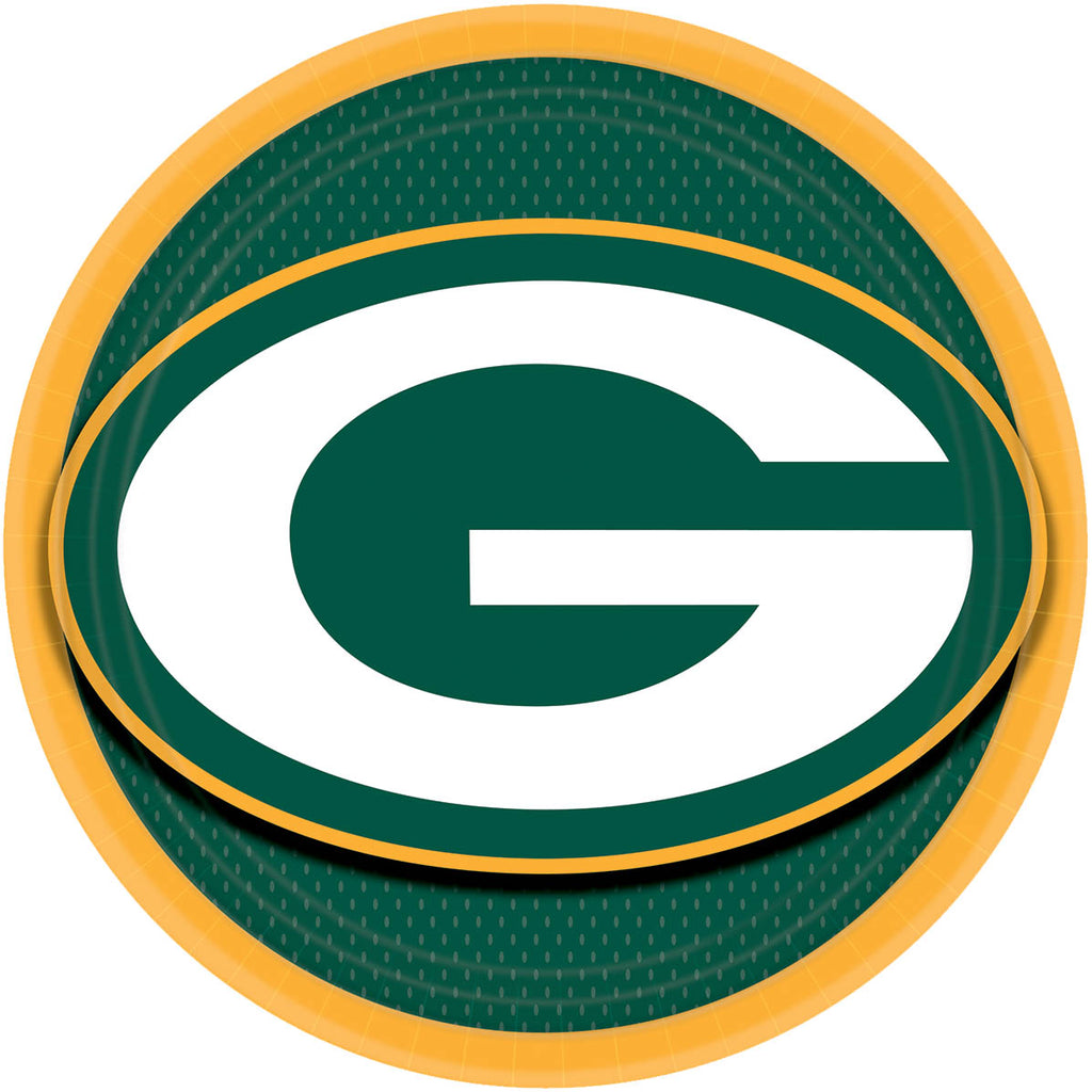 Green Bay Packers Lunch Plates 8ct - NFL - Party Supplies - America Likes To Party