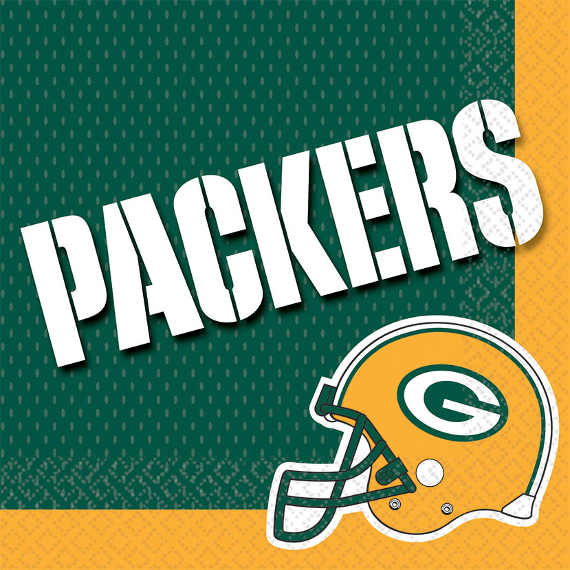 Green Bay Packers Lunch Napkins 16ct - NFL - Party Supplies - America Likes To Party