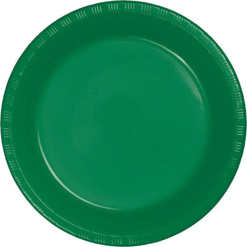 Festive Green Big Party Pack Plastic Dinner Plates 50ct - BIG PARTY PACKS - Party Supplies - America Likes To Party
