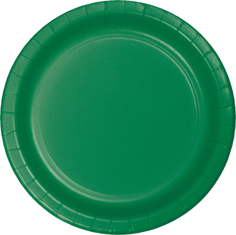 Festive Green Big Party Pack Paper Dessert Plates 50ct - BIG PARTY PACKS - Party Supplies - America Likes To Party