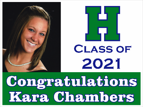 "Harrison High School Graduation Yard Sign 18"" x 24""  GLS05"