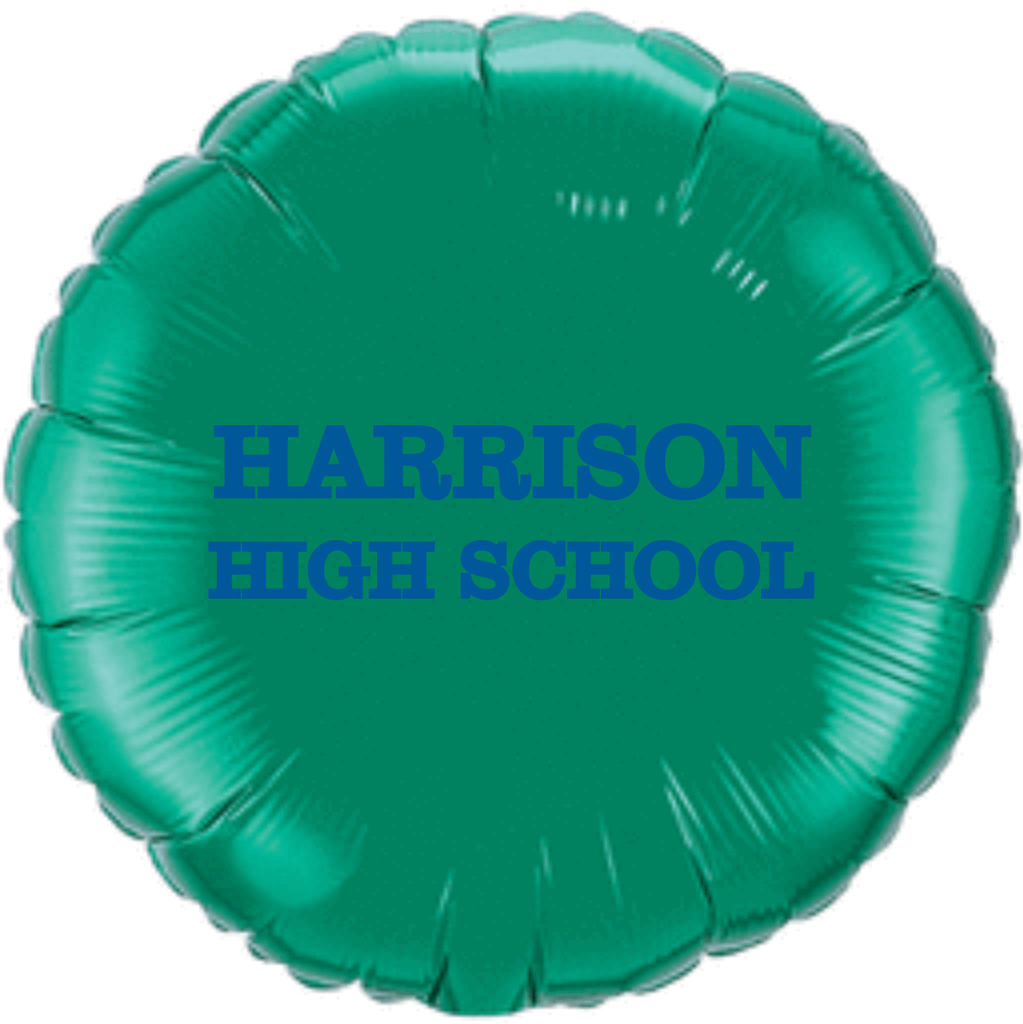 "Harrison High School 18"" Foil Name Balloon"