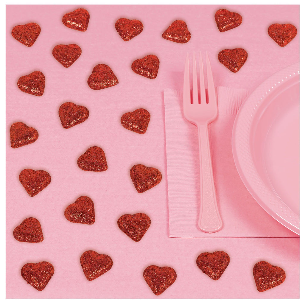 Red Glitter Heart Table Scatters