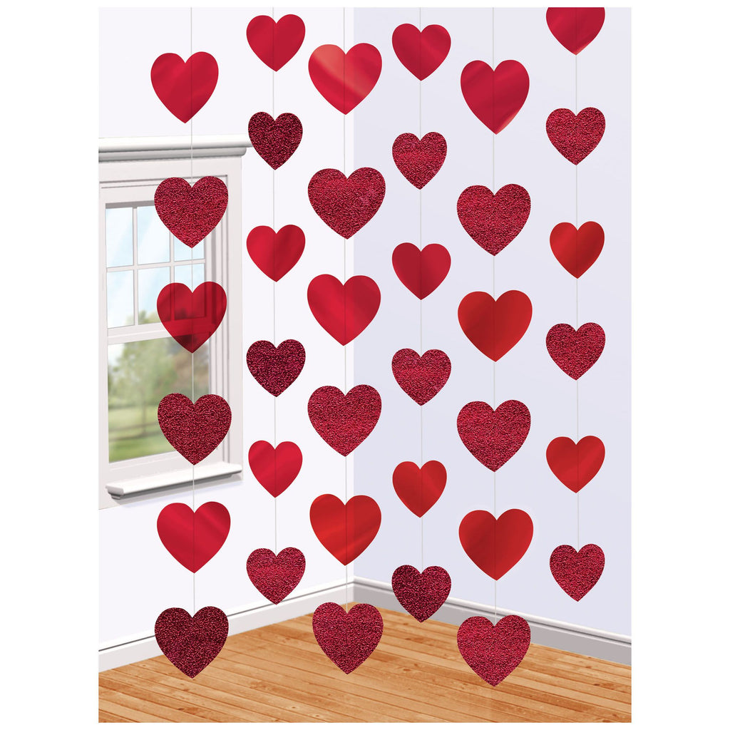 Red Heart String Decor