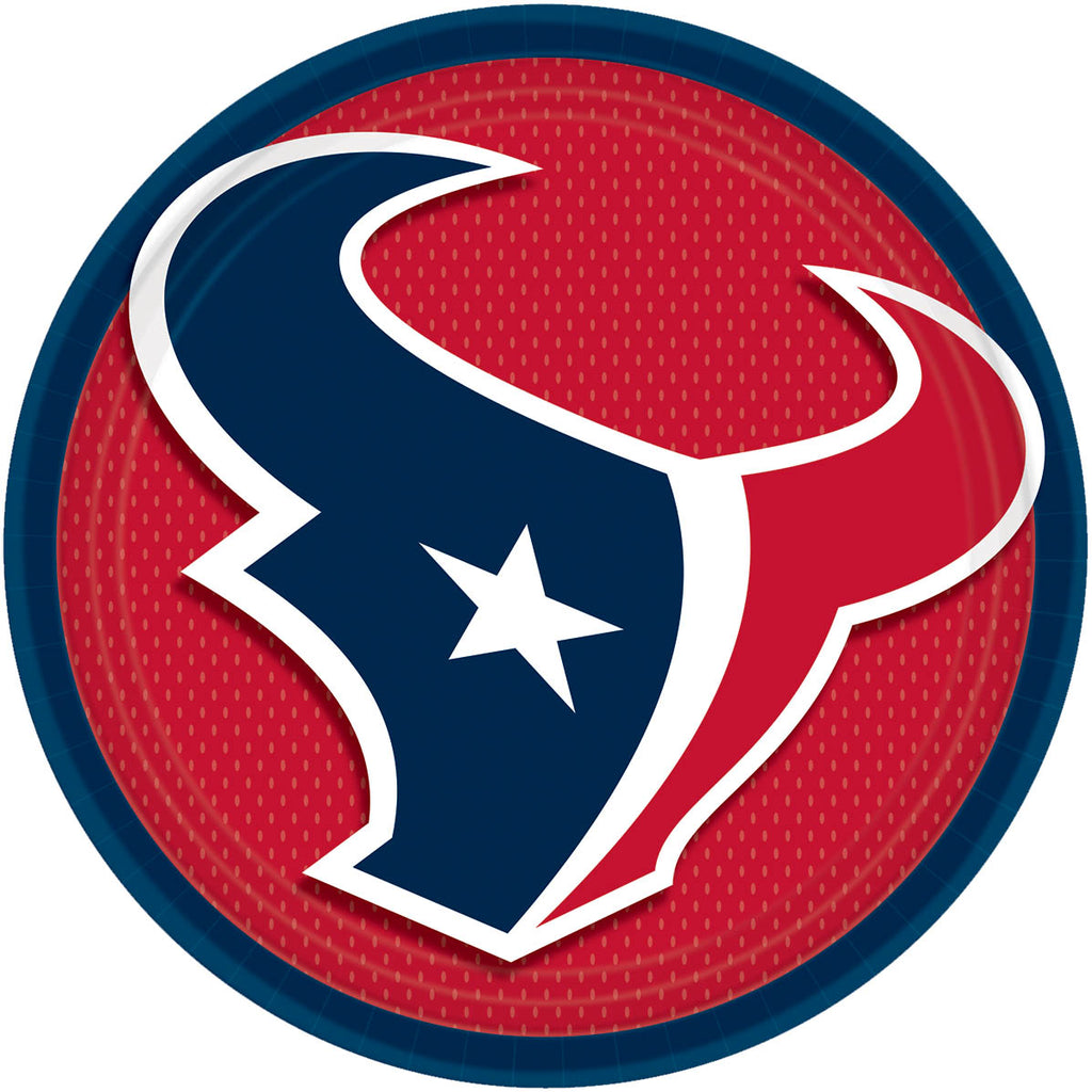 Houston Texans Lunch Plates 8ct - NFL - Party Supplies - America Likes To Party