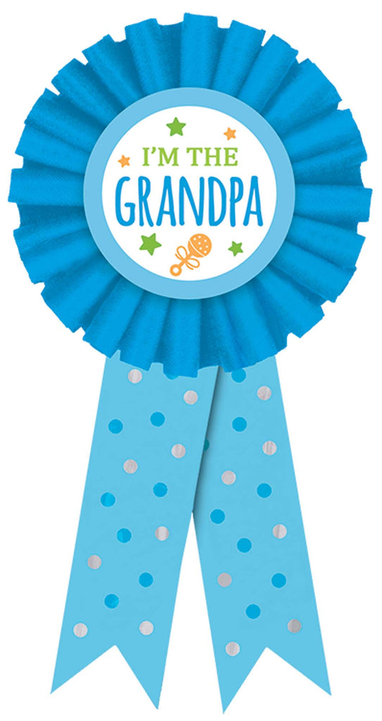 I'm The Grandpa Award Ribbon - ACCESSORIES BABY - Party Supplies - America Likes To Party