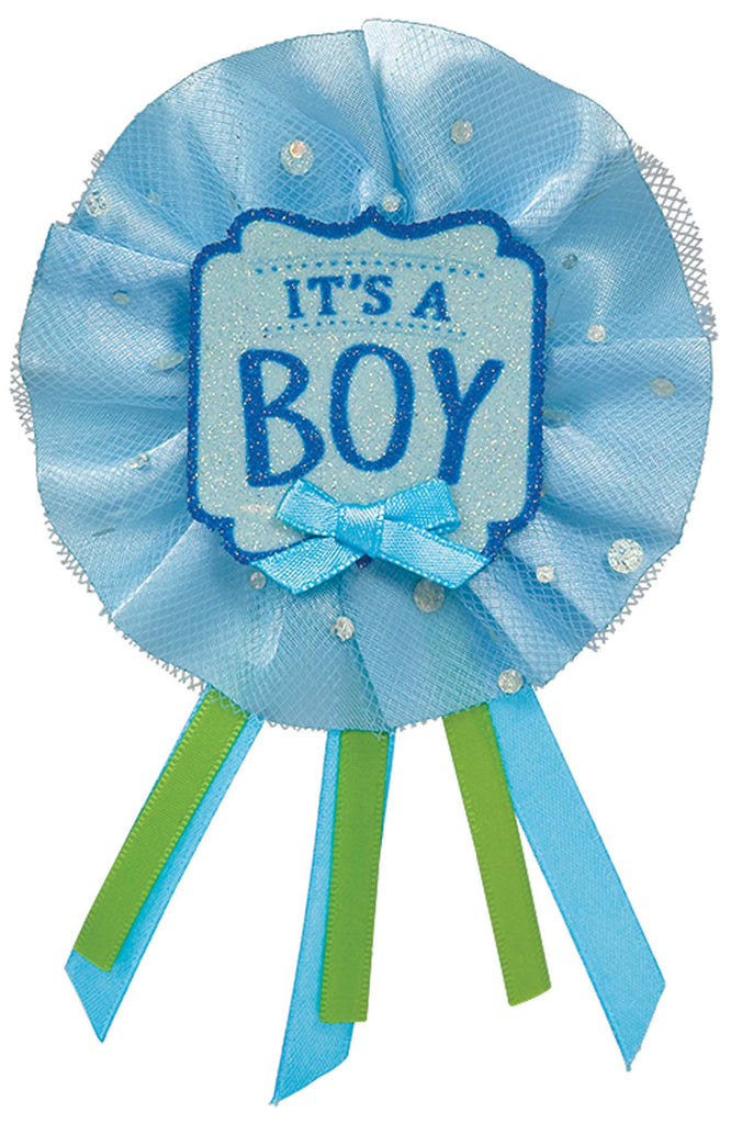 It's A Boy Award Ribbon - ACCESSORIES BABY - Party Supplies - America Likes To Party