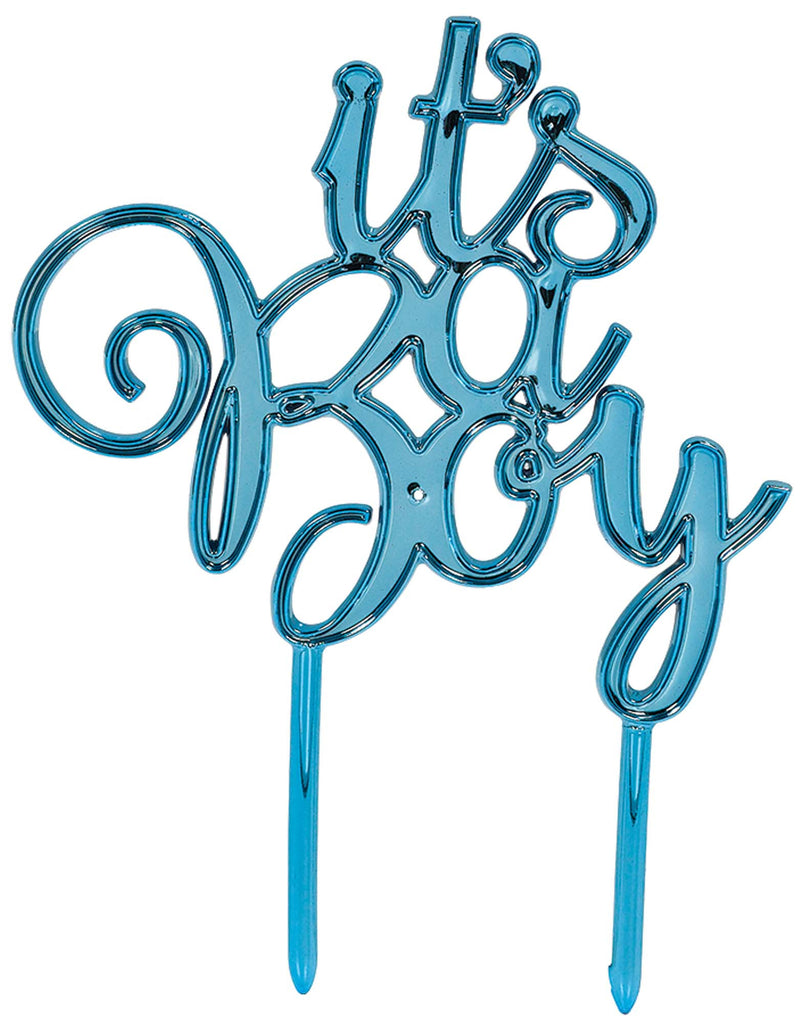 It's A Boy Cake Topper - ACCESSORIES BABY - Party Supplies - America Likes To Party