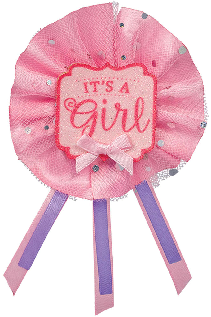 It's A Girl Award Ribbon - ACCESSORIES BABY - Party Supplies - America Likes To Party