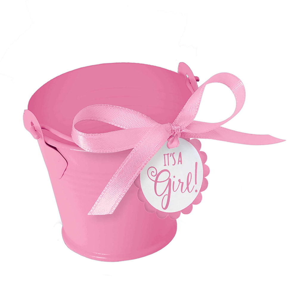 It's A Girl Pail Favor Kit 8ct - FAVORS BABY - Party Supplies - America Likes To Party