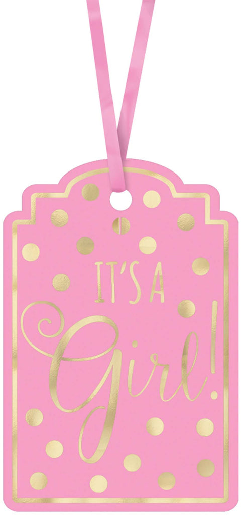 It's A Girl Tags 25ct - FAVORS BABY - Party Supplies - America Likes To Party