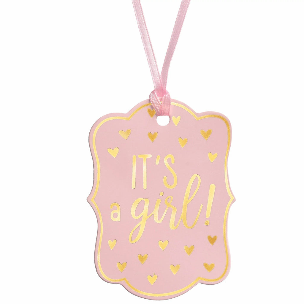 It's A Girl Favor Tags