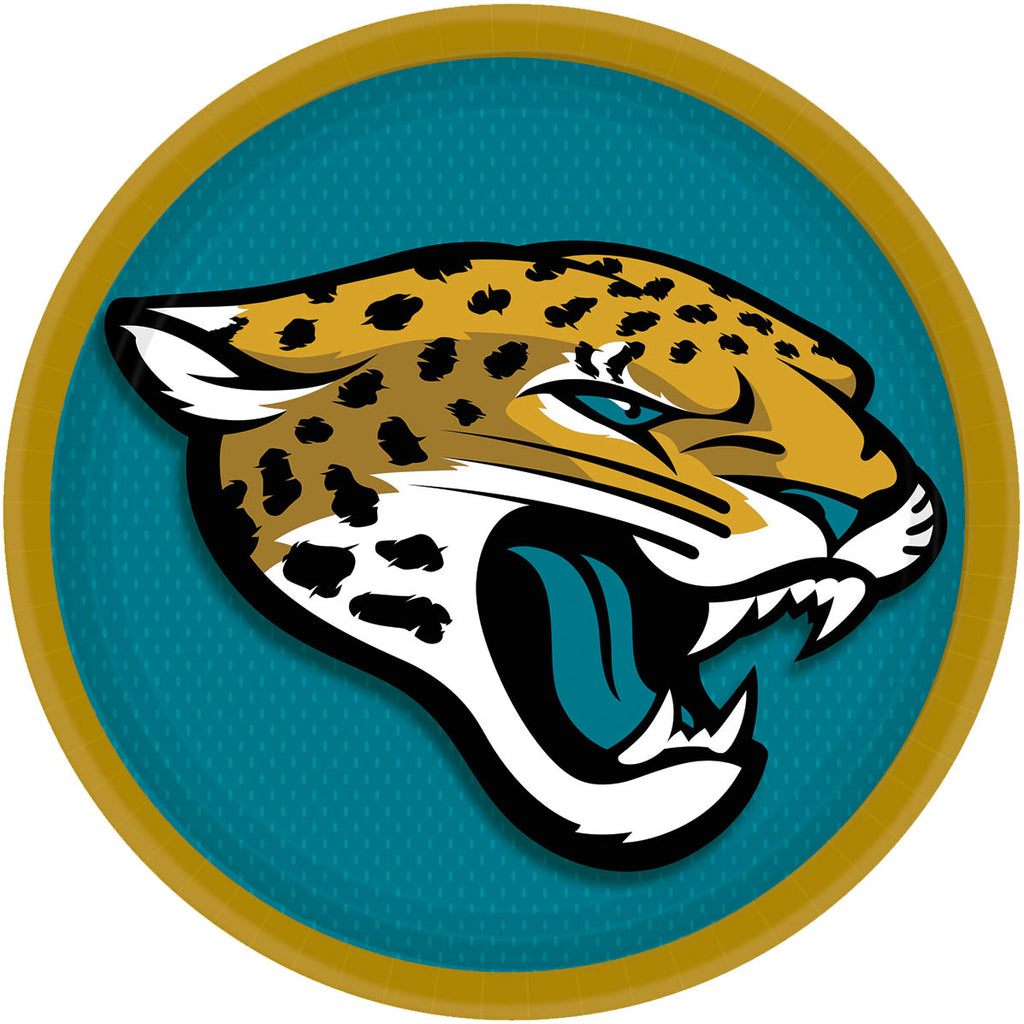 Jacksonville Jaguars Lunch Plates 8ct - NFL - Party Supplies - America Likes To Party