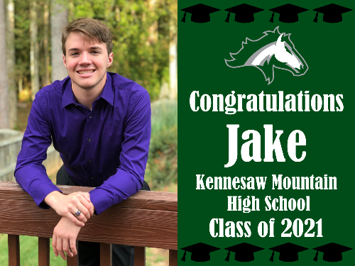 "Kennesaw Mountain High School Graduation Yard Sign 18"" x 24""  GLS07"