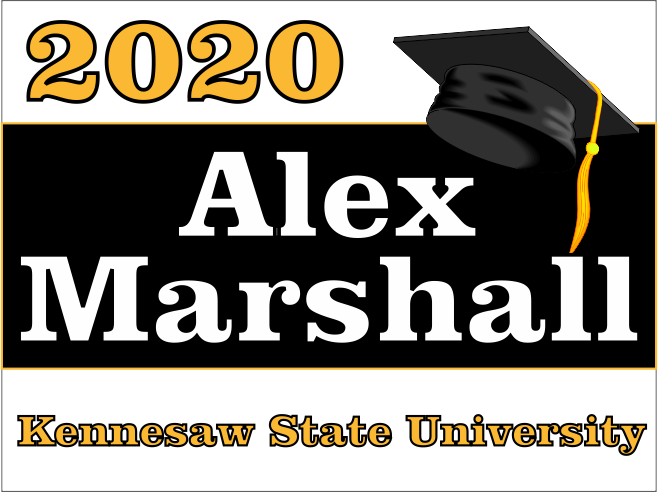 "Kennesaw State University Graduation Yard Sign 18"" x 24""  GLS04"