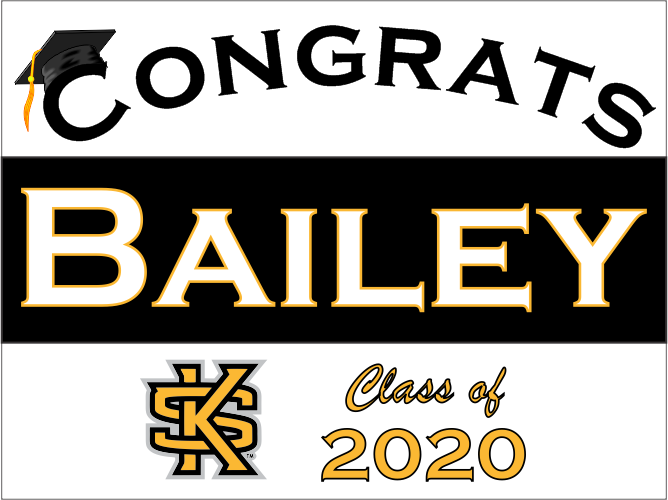 "Kennesaw State University Graduation Yard Sign 18"" x 24""  GLS06"