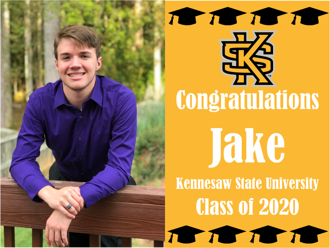 "Kennesaw State University Graduation Yard Sign With Photo 18"" x 24""  GLS07"