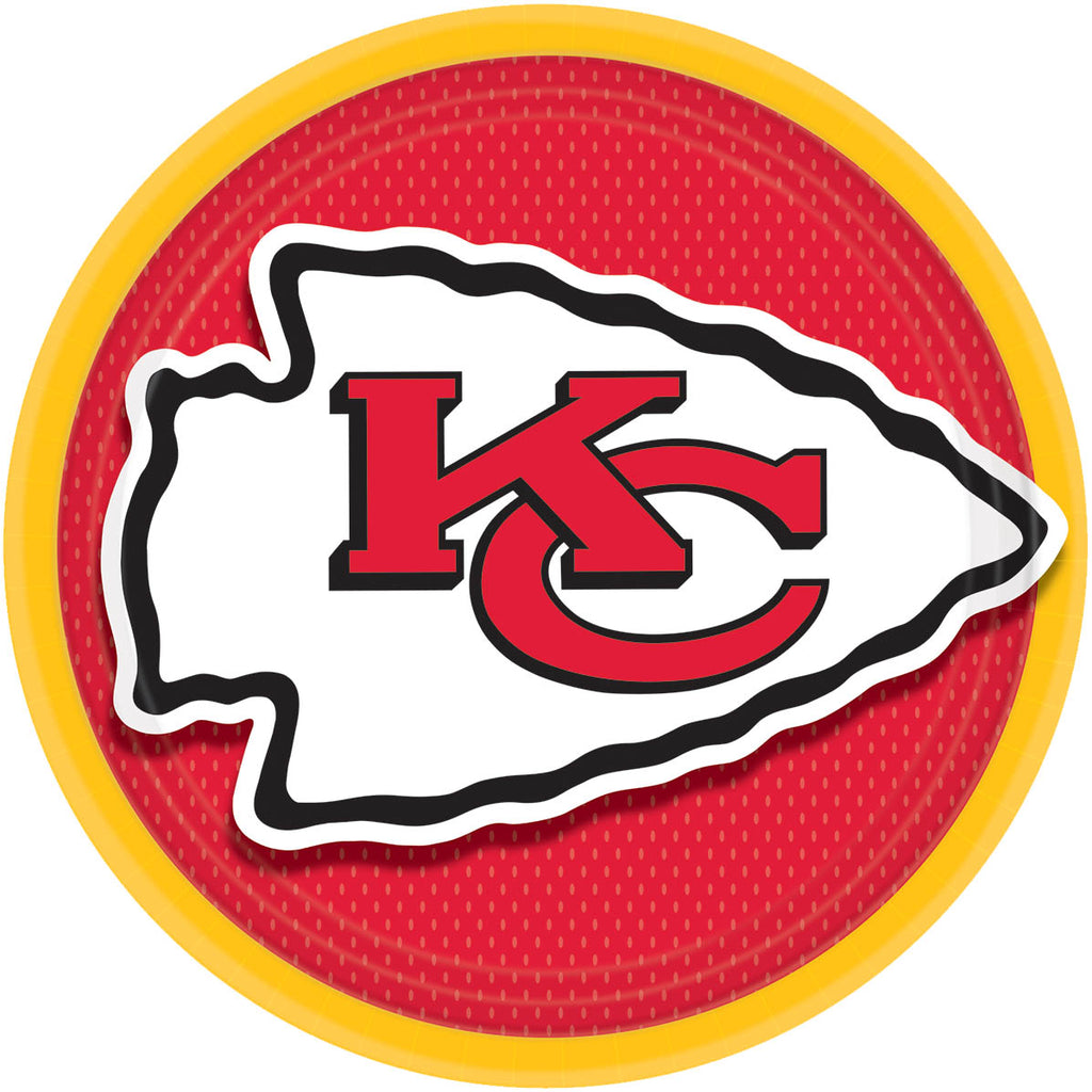 Super Bowl - Tailgating - Kansas City Chiefs Lunch Plates 8ct - NFL - Party Supplies - America Likes To Party