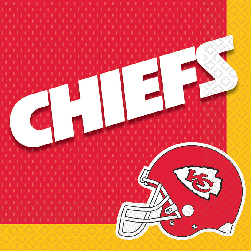 Kansas City Chiefs Lunch Napkins 16ct - NFL - Party Supplies - America Likes To Party