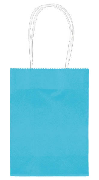 "Caribbean Blue 5"" Paper Kraft Bag - FAVOR BAGS/CONTAINERS - Party Supplies - America Likes To Party"