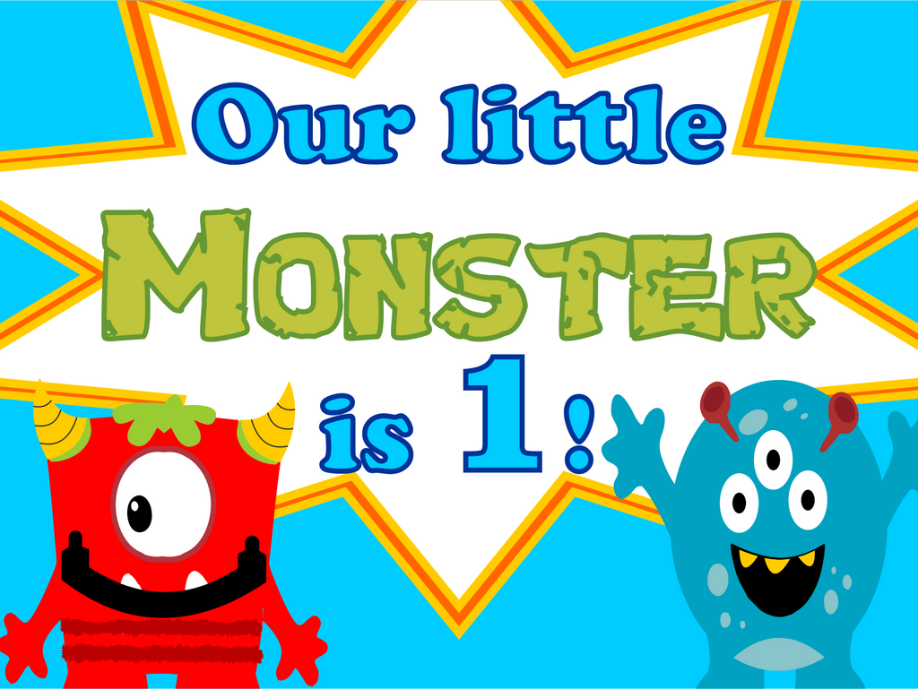 "Little Monster Custom 18"" X 24"" Lawn Sign"