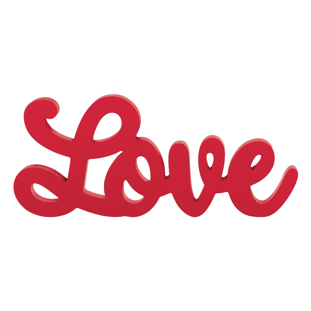 Wooden Script Love Sign