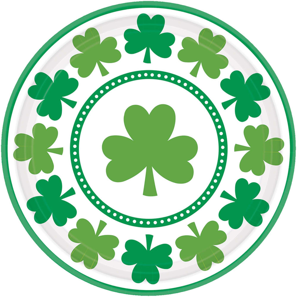 Lucky Shamrocks Lunch Plates