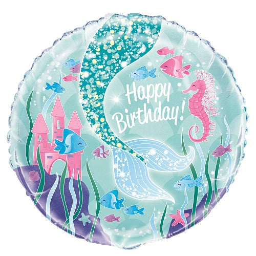 Mermaid Balloon - KIDS BDAY MYLARS - Party Supplies - America Likes To Party