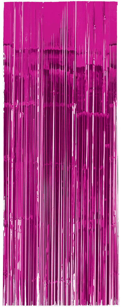 Bright Pink Metallic Door Curtain - METALLIC DECORATIONS - Party Supplies - America Likes To Party