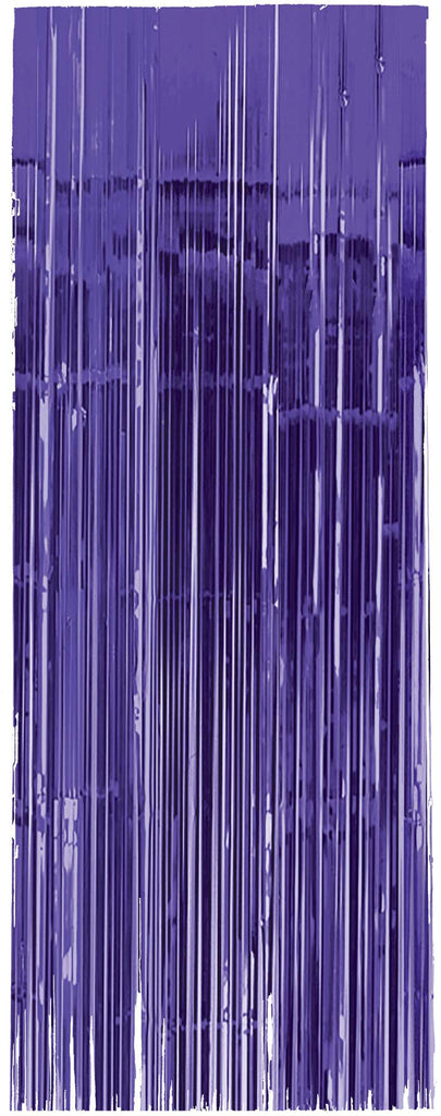 Purple Metallic Door Curtain - METALLIC DECORATIONS - Party Supplies - America Likes To Party